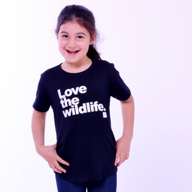 T-shirt Earth Zoo Kids Feminina Love The Wild Life Preta