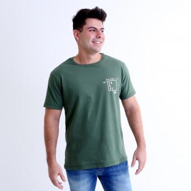 T-shirt Earth Zoo Masculina Gorila das Montanhas 2 Verde