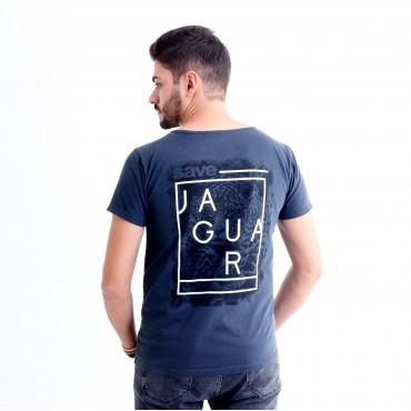 T-shirt Earth Zoo Masculina Onça Pintada 2 Chumbo