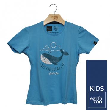 T-shirt Earth Zoo Kids Baleia Azul