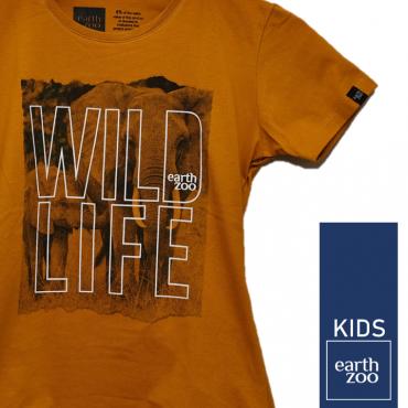 T-shirt Earth Zoo Kids Elefante Mostarda