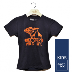 T-shirt Earth Zoo Kids Girafa Azul Marinho