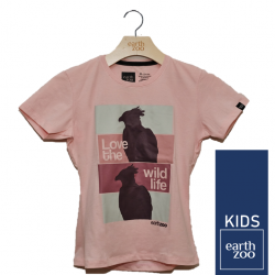 T-shirt Earth Zoo Kids Harpia Rosa