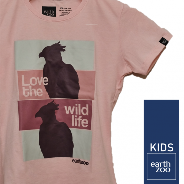T-shirt Earth Zoo Kids Harpia Rosa
