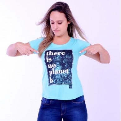 T-shirt Earth Zoo Feminina There is no Planet B Verde