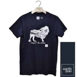 T-shirt Earth Zoo Masculina - Leão Azul Marinho