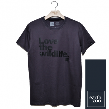 T-shirt Earth Zoo Masculina - Love the Wild Life Chumbo