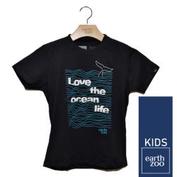T-shirt Earth Zoo Kids Ocean Azul Marinho