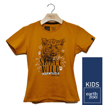 T-shirt Earth Zoo Kids Filhote Mostarda
