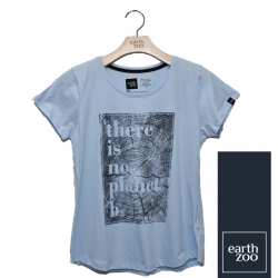 T-shirt Earth Zoo Feminina - There is no Planet B Azul