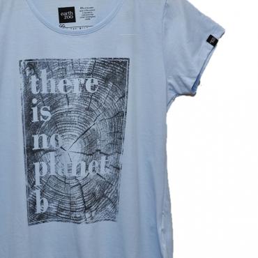 T-shirt Earth Zoo Feminina - There is no Planet B Azul