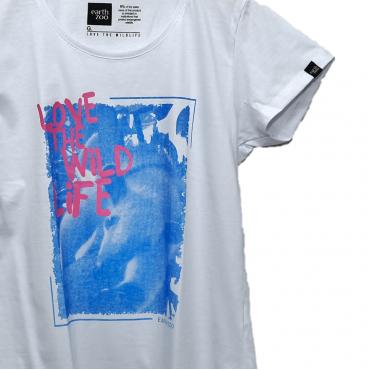 T-shirt Earth Zoo Feminina - Tamanduá Branca