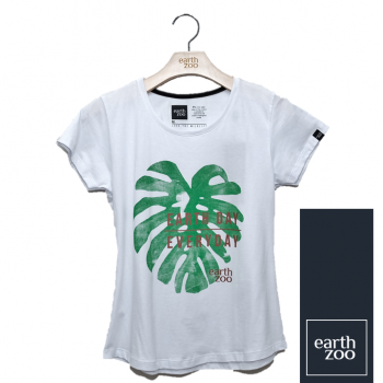 T-shirt Earth Zoo Feminina - Tucano Branco