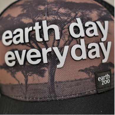 Boné Earth Zoo Earth Day Every Day Estampado