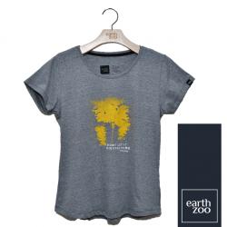T-shirt Earth Zoo Feminina - Árvore Amarela