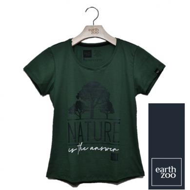 T-shirt Earth Zoo Feminina - Árvore Verde