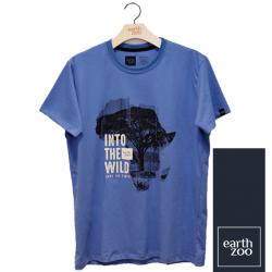 T-shirt Earth Zoo Masculina - África Azul