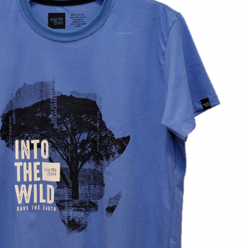 T-shirt Earth Zoo Masculina - África Azul