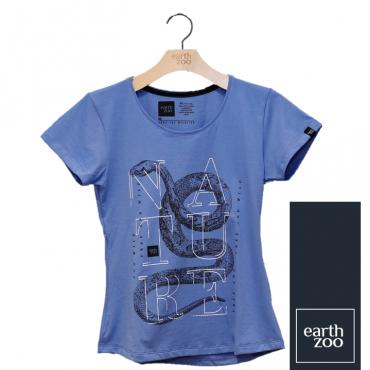 T-shirt Earth Zoo Feminina - Serpente Azul