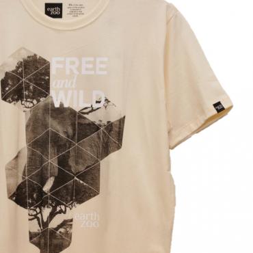 T-shirt Earth Zoo Masculina - Elefante Creme