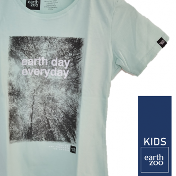 T-shirt Earth Zoo Kids Earth Day Every day Verde