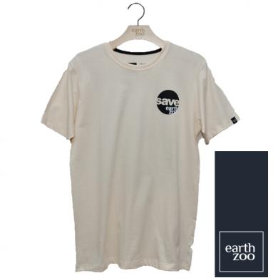 T-shirt Earth Zoo Masculina - Gorila Costas Bege