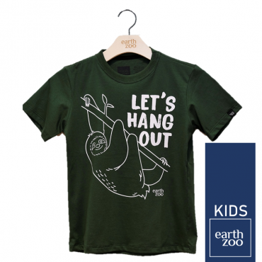 T-shirt Earth Zoo Kids Preguiça Verde