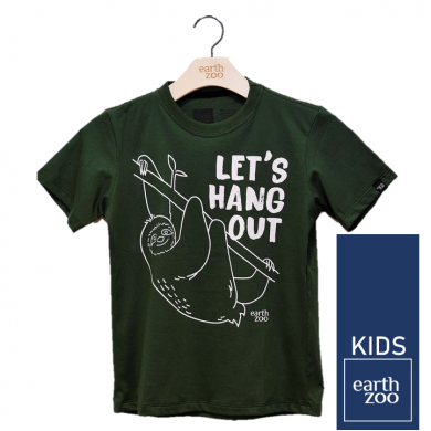 T-shirt Earth Zoo Kids Preguiça Verde