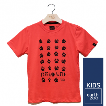 T-shirt Earth Zoo Kids Patinhas Coral