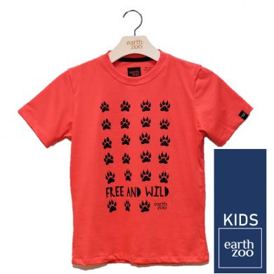 T-shirt Earth Zoo Kids Patinhas Coral