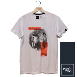 T-shirt Earth Zoo Masculina - Pinguim Branca