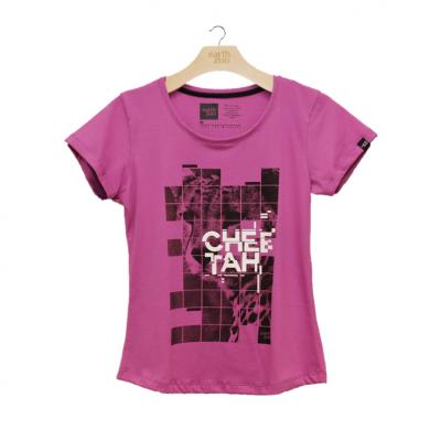 T-shirt Earth Zoo Feminina - Cheetah Pink