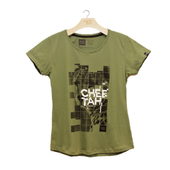 T-shirt Earth Zoo Feminina - Cheetah Verde