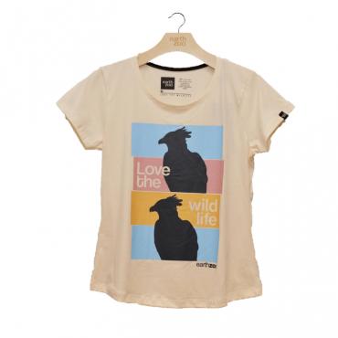 T-shirt Earth Zoo Feminina - Harpia Creme