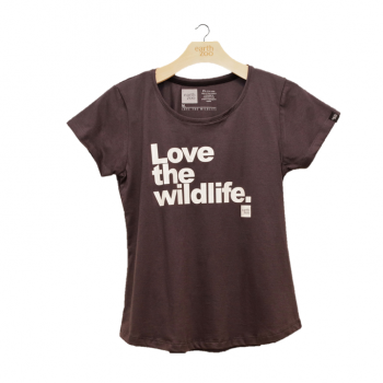 T-shirt Earth Zoo Feminina - Love the Wild Life Chumbo