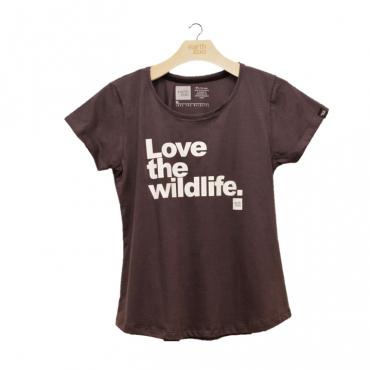 T-shirt Earth Zoo Feminina - Love the Wild Life Chumbo