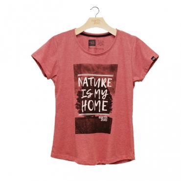 T-shirt Earth Zoo Feminina - Nature is my Vermelho Escuro