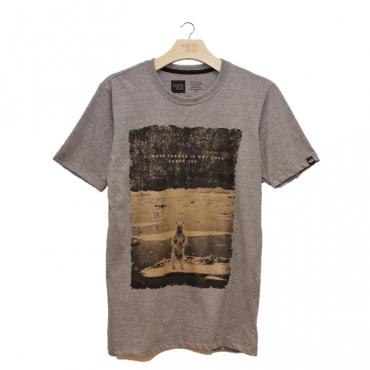 T-shirt Earth Zoo Masculina - Urso Polar Cinza