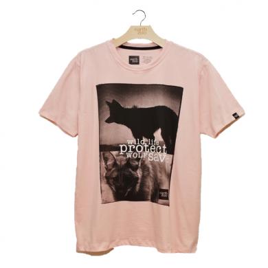 T-shirt Earth Zoo Masculina - Lobo Guará Rosa