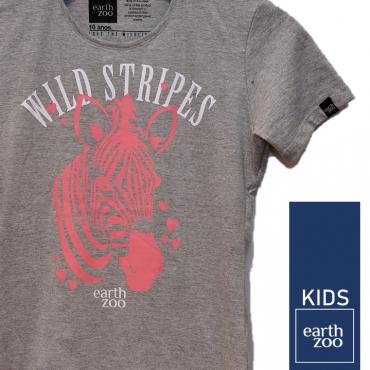 T-shirt Earth Zoo Kids Zebra Cinza