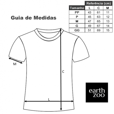 T-shirt Earth Zoo Feminina Tropical Veins Verde