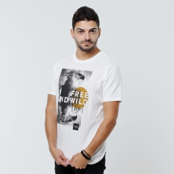 T-shirt Earth Zoo Masculina - Harpia Branca