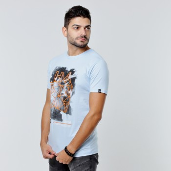 T-shirt Earth Zoo Masculina - Preguiça Azul