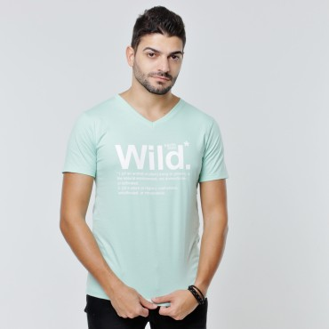 T-shirt Earth Zoo Masculina - Wild Verde