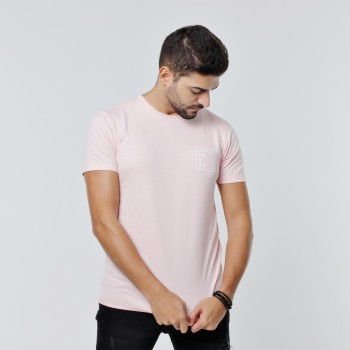 T-shirt Earth Zoo Masculina - Gorila Rosa