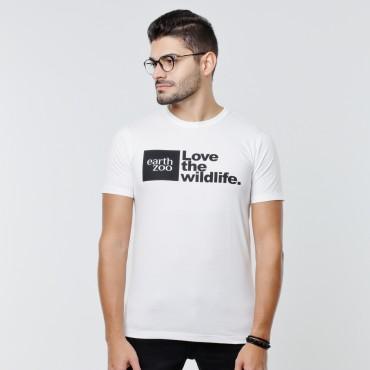 T-shirt Earth Zoo Masculina - Logo Earth Zoo Branca