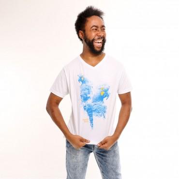 T-shirt Earth Zoo Masculina Arara Azul de Lear Branca